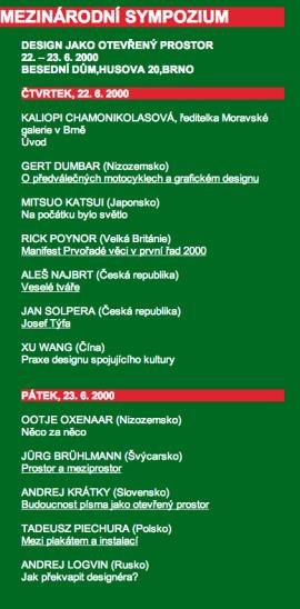 19. bienále grafického designu, Brno