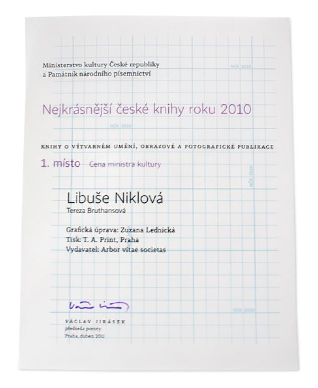 Nejkrásnější česká kniha roku 2010