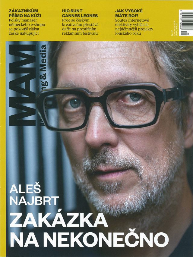 Marketing & Media 7/2019, Aleš Najbrt: Zakázka na nekonečno
