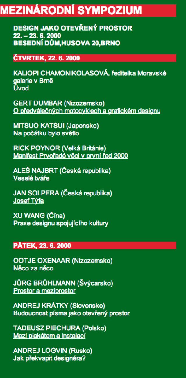 19th International Biennial of Graphic Design, Brno